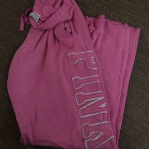 Pink sweatpants boyfriend cut